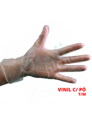 LUVA EXAME VINIL M CX100